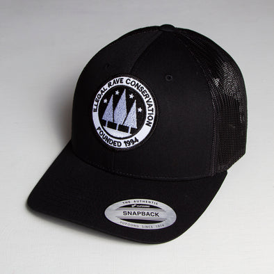 Illegal Rave - Trucker Cap - Black - Wasted Heroes
