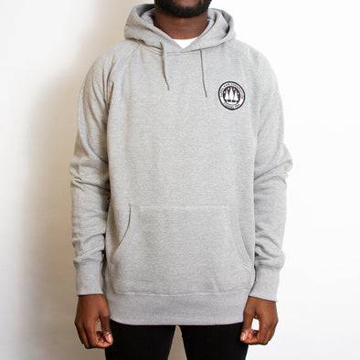 Illegal Rave Crest - Pullover Hoodie - Grey - Wasted Heroes