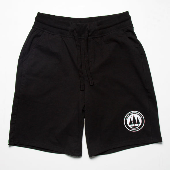 Illegal Rave Conservation - Jersey Shorts - Black - Wasted Heroes