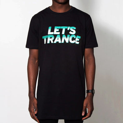 Lets Trance - Longline - Black - Wasted Heroes