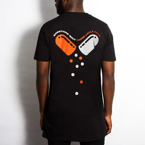 Little Pills Back Print - Longline - Black - Wasted Heroes
