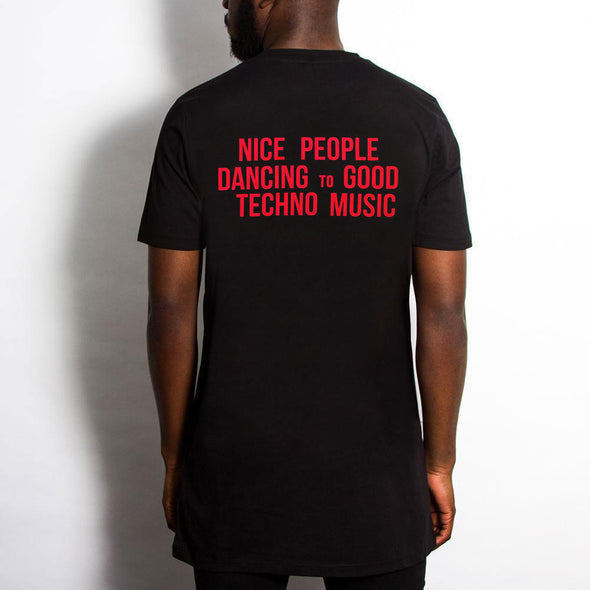 Peoples Techno - Longline - Black - Wasted Heroes