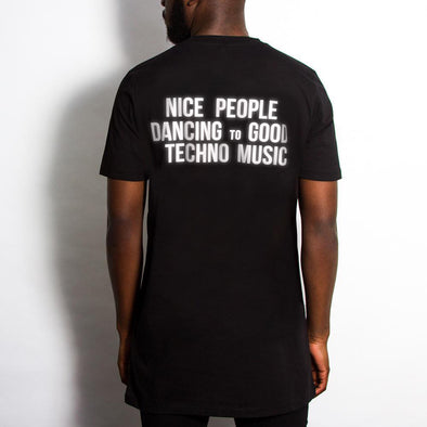 Reflective Peoples Techno - Longline - Black - Wasted Heroes