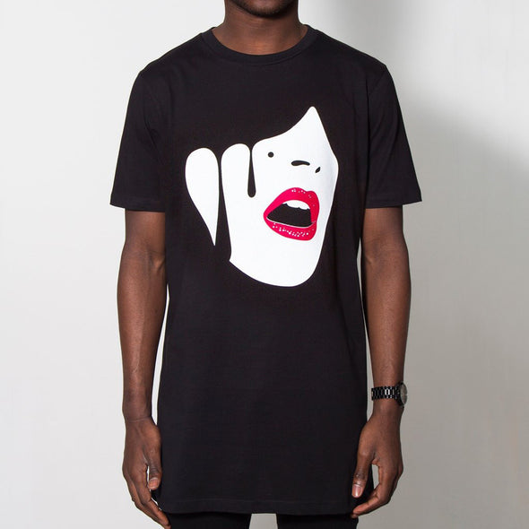 Droplet Face - Longline - Black