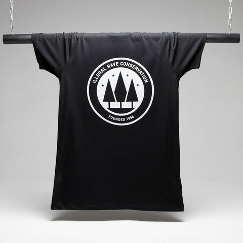 Illegal Rave Longline T-shirt - Black