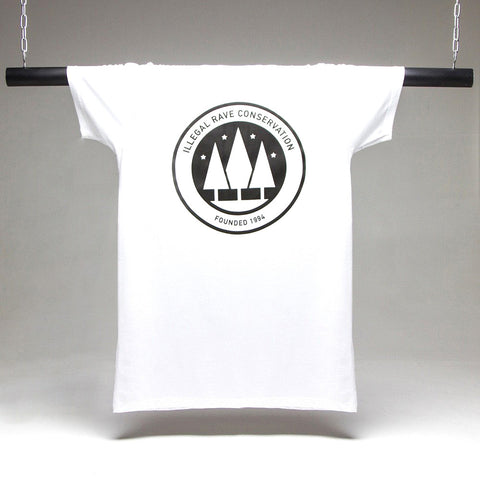 Illegal Rave Longline T-shirt - White