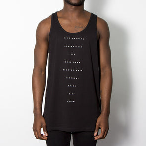 The Recipe - Mens Vest - Black - Wasted Heroes