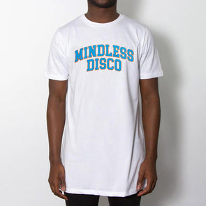 Mindless College Blue Print - Longline - White - Wasted Heroes