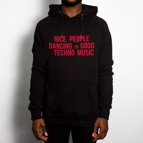 Peoples Techno - Pullover Hood - Black - Wasted Heroes
