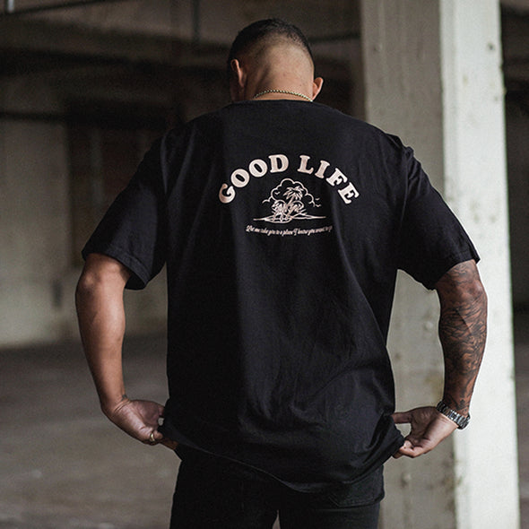 Good Life  - Oversized Tshirt - Black