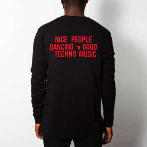 Peoples Techno - Long Sleeve - Black - Wasted Heroes
