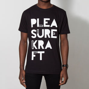 Pleasurkraft White Print - Tshirt - Black
