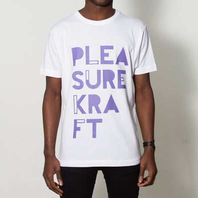 Pleasurkraft Purple Print - Tshirt - White