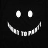 Right To Party Front - Tshirt - Black - Wasted Heroes