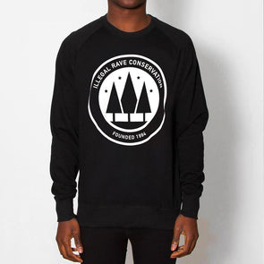 Illegal Rave Conservation - Sweatshirt - Black - Wasted Heroes