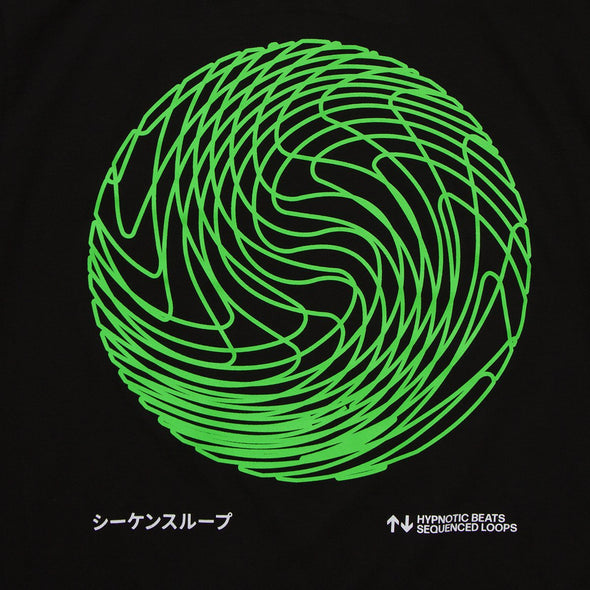 Sequence Sphere - Oversized Tshirt - Black - Wasted Heroes
