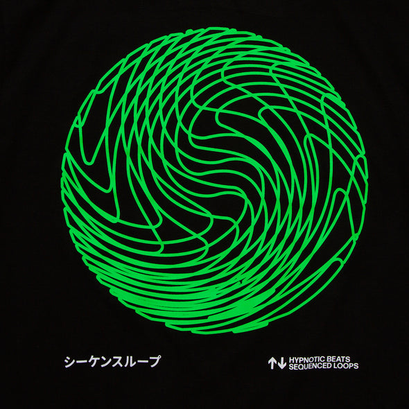Sequence Sphere Back Print - Longline - Black - Wasted Heroes