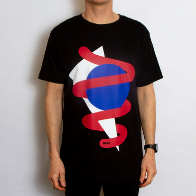 Shapes Front Print - Tshirt - Black - Wasted Heroes