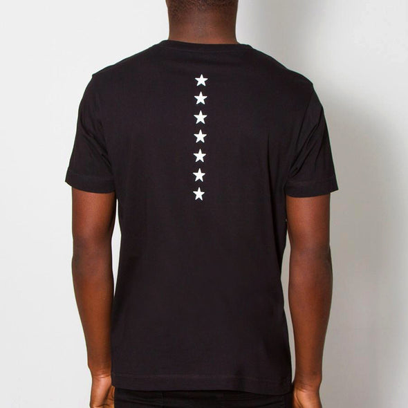 Stars Back Print - Tshirt - Black - Wasted Heroes