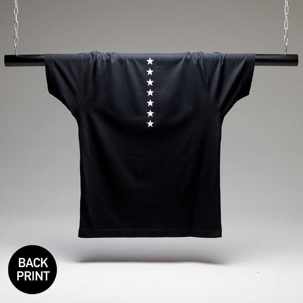 Stars Back Print T-shirt (Black)
