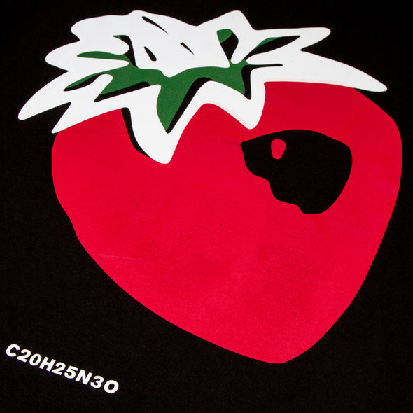 Strawberry Back Print - Long Sleeve - Black - Wasted Heroes