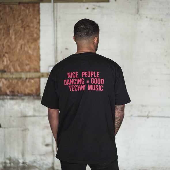 Peoples Techno  - Oversized Tshirt - Black - Wasted Heroes