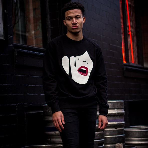 Droplet Face - Sweatshirt - Black - Wasted Heroes