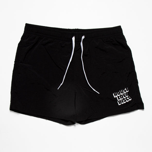 House Love Disco - Swim Shorts - Black - Wasted Heroes
