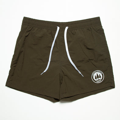 Illegal Rave Conservation - Swim Shorts - Olive - Wasted Heroes
