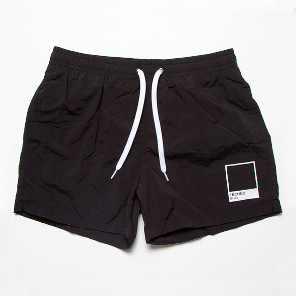Techno Black - Swim Shorts - Black - Wasted Heroes