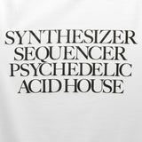 Synthesizer Acid House T-shirt - White