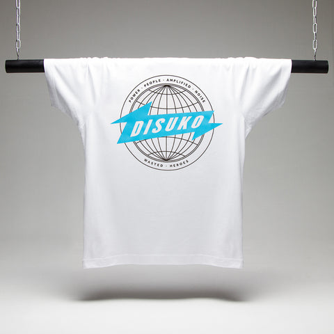 Disuko T-shirt - White/Blue