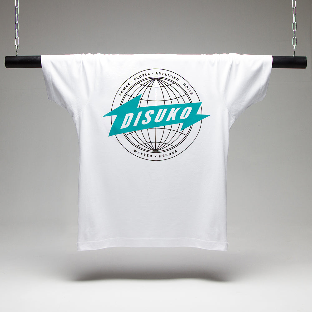 Disuko T-shirt - White/Green