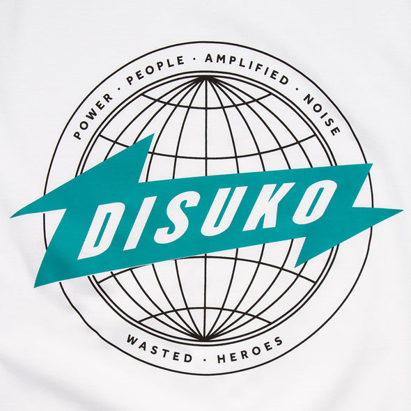 Disuko Green Front Print - Tshirt - White - Wasted Heroes