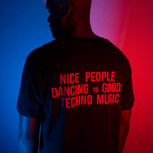 Peoples Techno Back Print - Tshirt - Black - Wasted Heroes