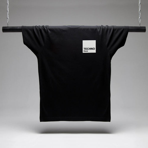 Box Techno White Print - Tshirt - Black