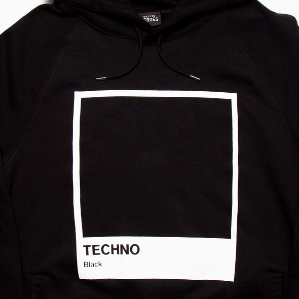 Techno Black - Unisex Hoodie - Black - Wasted Heroes