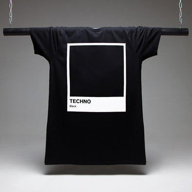 Techno Black Longline T-shirt