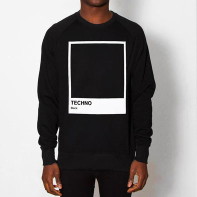 Techno Black - Sweatshirt - Black - Wasted Heroes