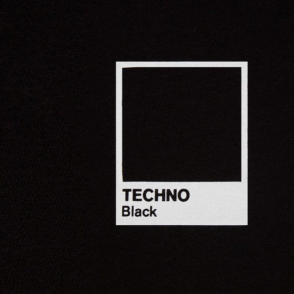 Crest Techno Black  - Oversized Tshirt - Black - Wasted Heroes