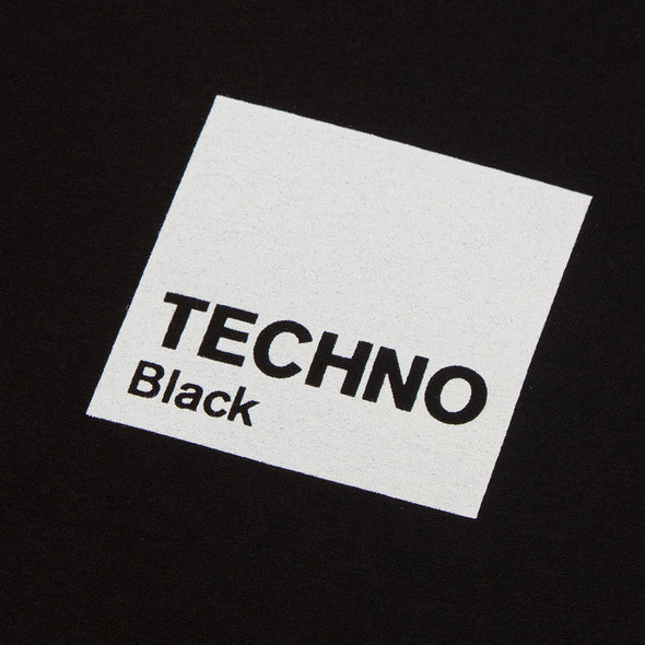 Box Techno White Print - Tshirt - Black - Wasted Heroes