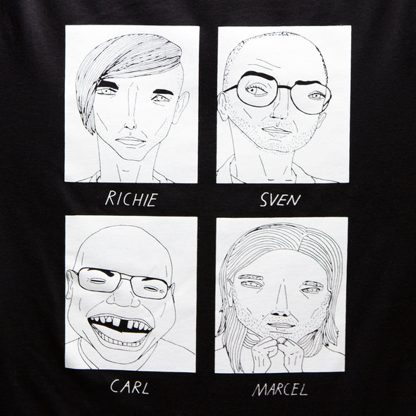 Badly Drawn Techno Legends - Tshirt - Black - Wasted Heroes