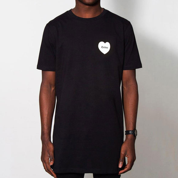 Techno Love - Longline - Black - Wasted Heroes