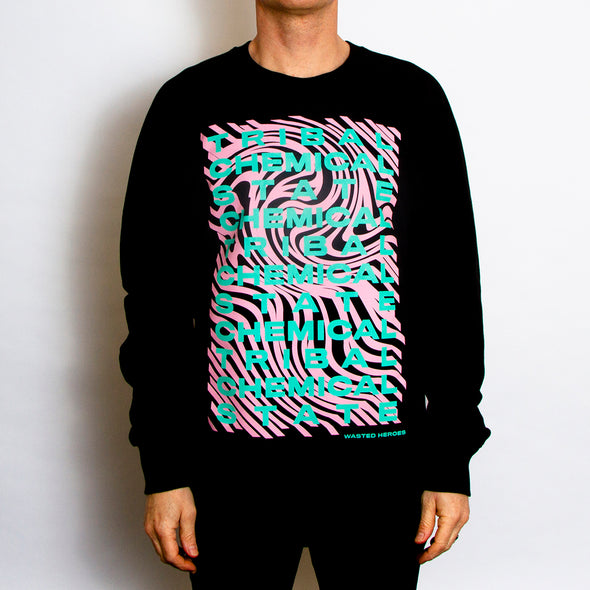 Tribal State Front Print - Sweatshirt - Black - Wasted Heroes