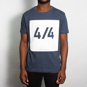 4/4 Front Print - Tshirt - Denim Blue