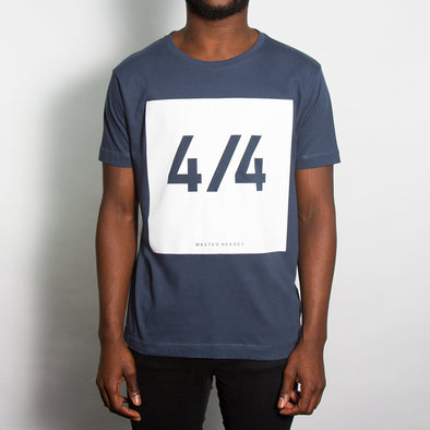 4/4 Front Print - Tshirt - Denim Blue - Wasted Heroes
