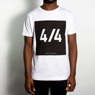 4/4 Front Print - Tshirt - White - Wasted Heroes
