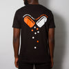 Little Pills Back Print - Tshirt - Black - Wasted Heroes