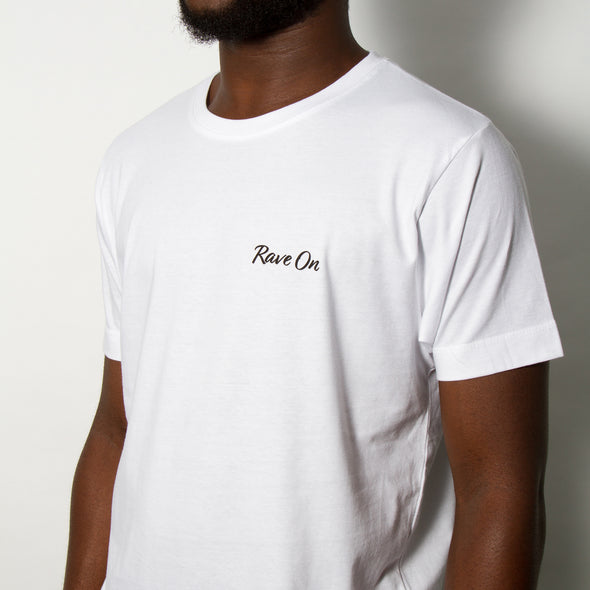 Rave On - Tshirt - White - Wasted Heroes