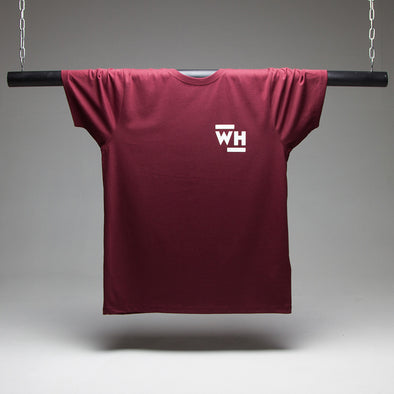 WH CREST T-shirt - Burgundy - Wasted Heroes